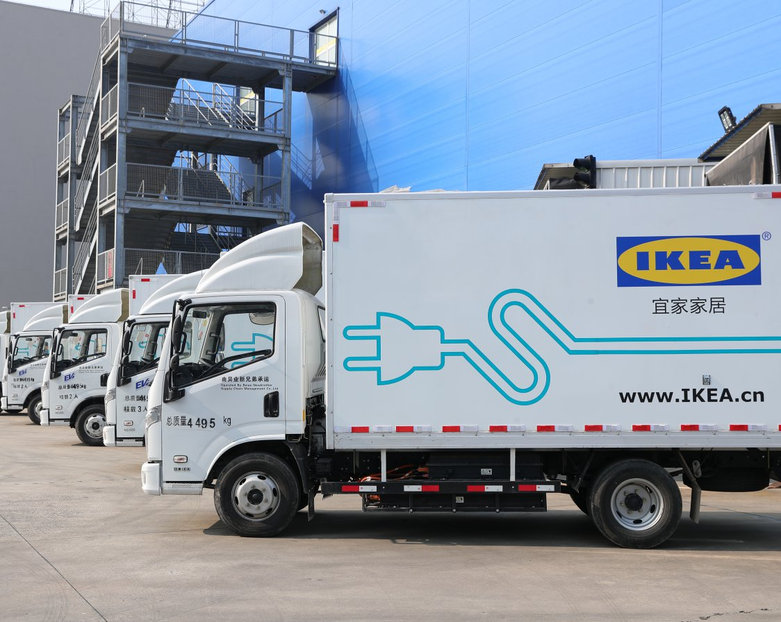 Electric truck in China.